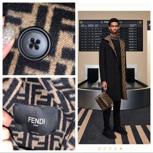 FENDI blue wool coat